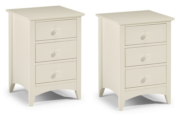 Cameo Three Drawer Bedside Tables - Set of 2
